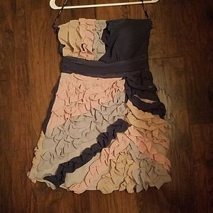 Unique ruffle dress